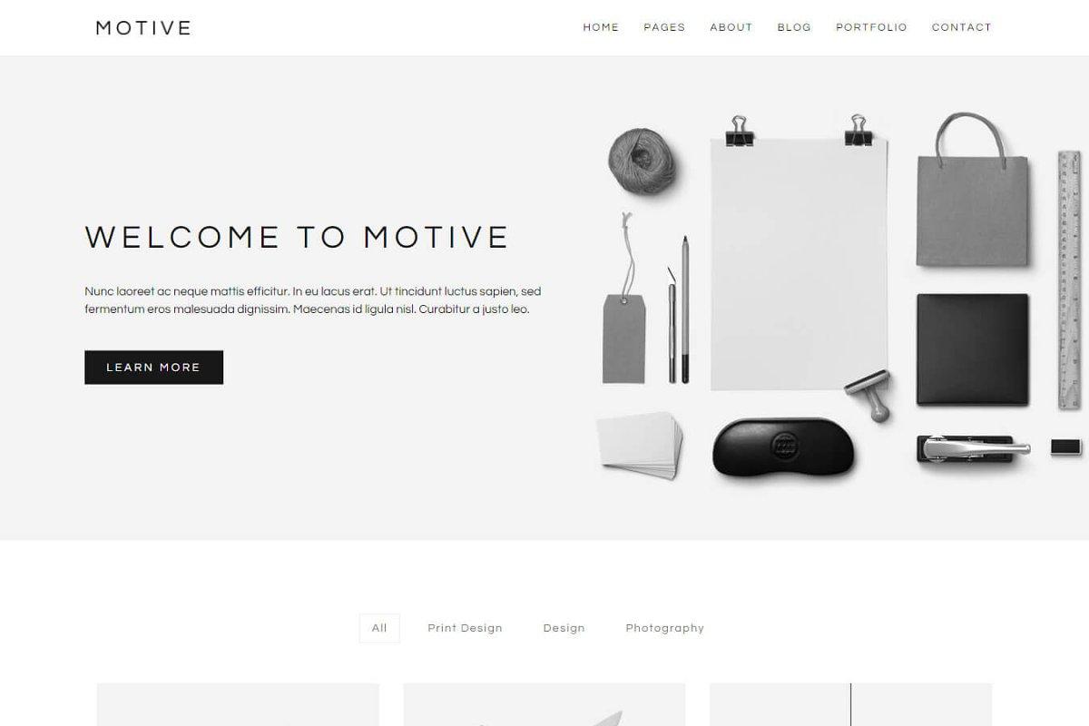 Motive Minimal Portfolio Template Htmlcss Themes