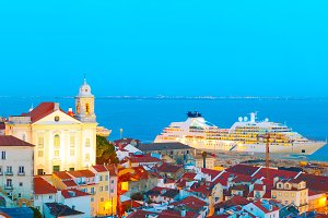 Lisbon Old Town and sea port