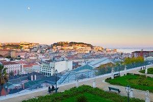 Lisbon from Sao Pedro de Alcantara