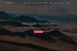 Origin - One Page Portfolio Template