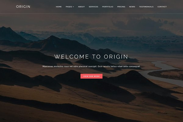 Origin - One Page Portfolio Templat…