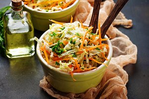 Salad with Chinese cabbage and carrot