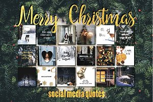 Merry Christmas quotes social media
