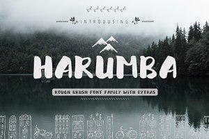 45% OFF! Harumba Brush font