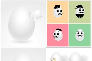 Easter Eggs Vector Elements