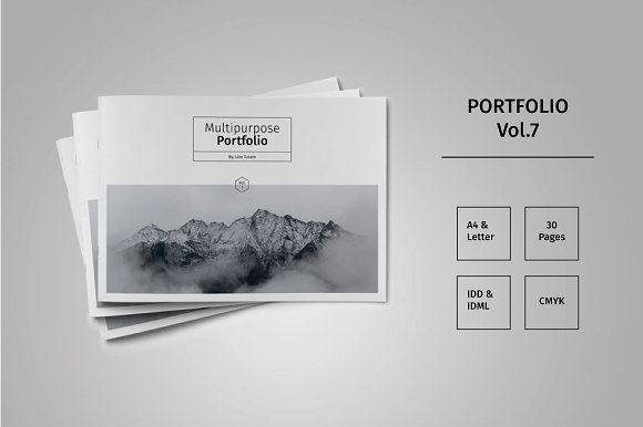landscape portfolio template vol 7 brochure templates creative