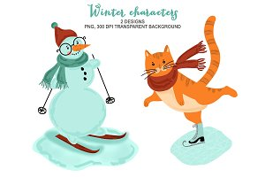 Christmas Winter Animals Clipart