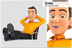3D Man Relaxing