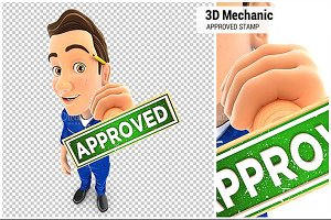 3D Mechanic Approved Stamp
