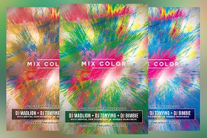 Mix Color Party Flyer