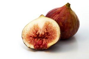 Fresh figs fruit isolated on white b