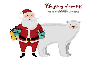 Christmas Characters Clip Art