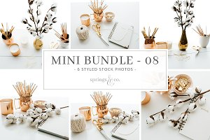 Cotton & Gold Mini Photo Bundle - 08