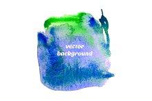 Vector watercolor square.