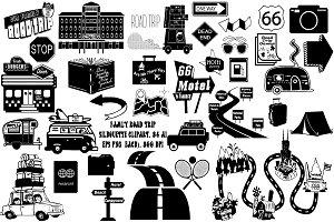 Road Trip Clip Art, 34 png AI EPS