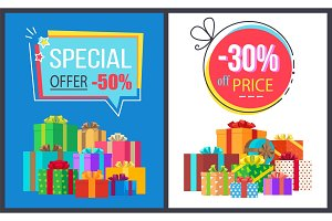 Special Offer 50 Price Off 30 Gemetric Label Boxes