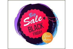 Big Sale Black Friday Best Vector Illustration