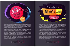 Big Sale Black Friday Choice Vector Illustration