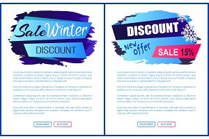 Winter Sale Web Page Design Vector Illustration