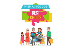 Premium Goods Best Choice on Vector Illustration