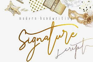 Signature Script Modern Handwriting