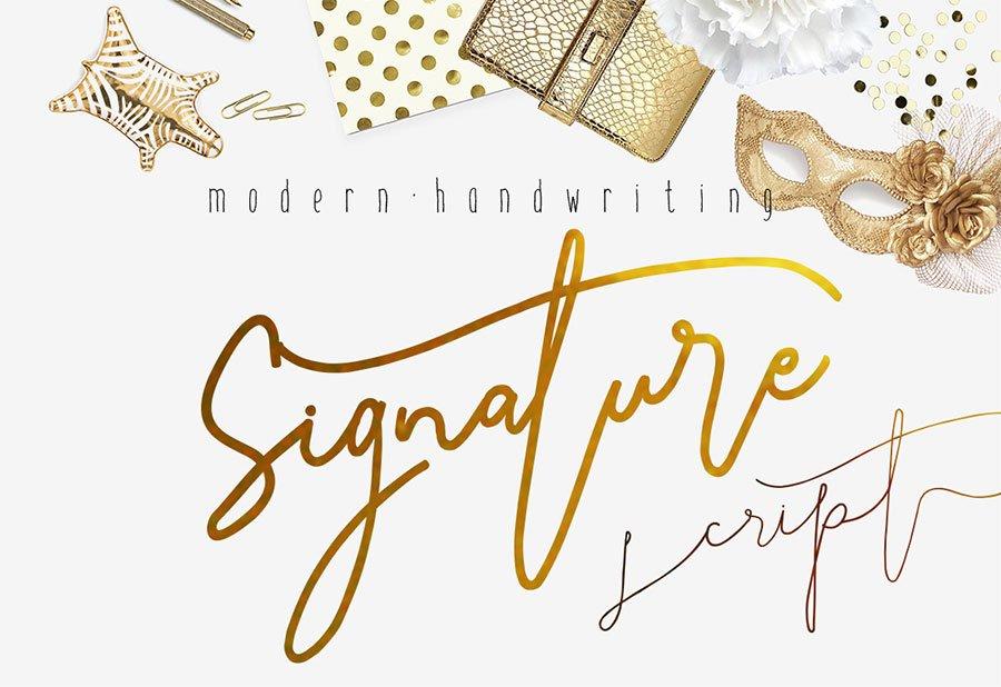 Signature Script Modern Handwriting Fonts Creative Market