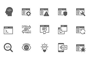 Software and Programming Icons