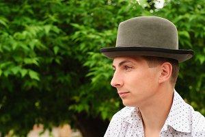 Man in felt hat