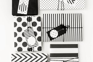 Black and white modern gifts