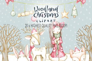 Woodland Christmas Clip art
