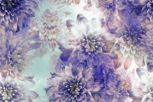 chrysanthemums seamless pattern |JPG