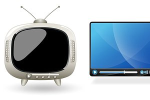 TV and Video Screens Vector Elements
