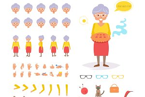 Grandmother for animation