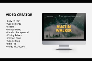 Video Creator - Adobe Muse Template