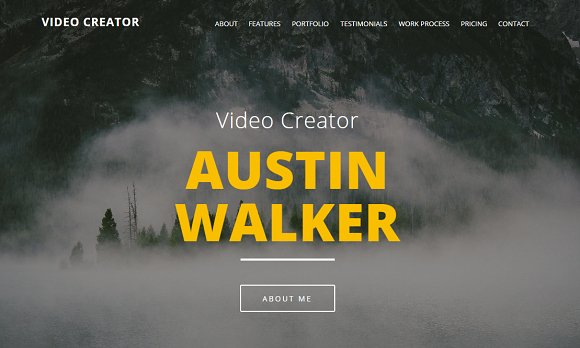 Video Creator - Adobe Muse Template