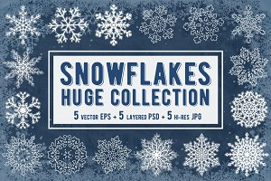 Snowflakes Collection. Vector