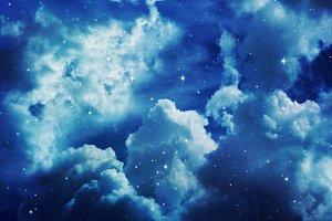 Night sky with stars.