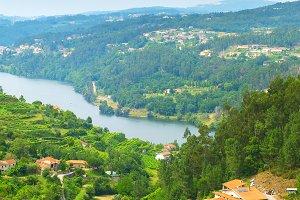 Landscape of Douro wine region
