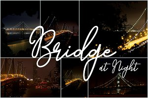 6 Backgrounds - Bridge at Night