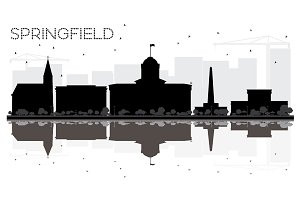 Springfield Illinois City skyline