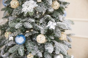 Christmas tree with luxury toys