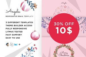 Angela –Christmas template + Builder