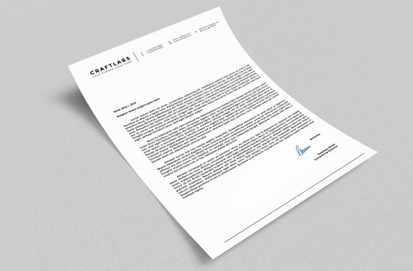Corporate Letterhead 4 with MS Word Stationery Templates – Corporate Letterhead