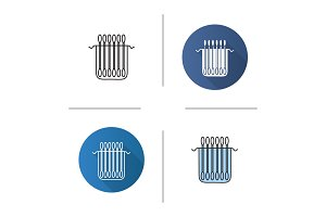 Package of cotton buds icon