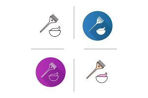 Hair dyeing kit icon