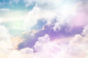 Colorful sky and pastel color