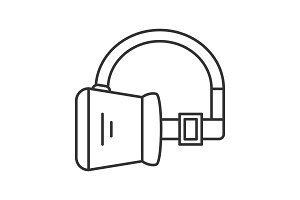 VR headset linear icon