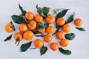 Mandarin citrus background