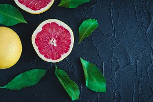 Grapefruit citrus background