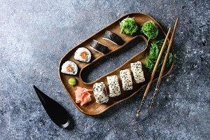 Sushi rolls set